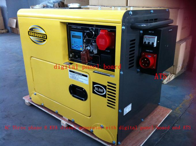 Industrial 8KVA AC Three Phase Small Diesel Generators With Heat Exchange Cooling System