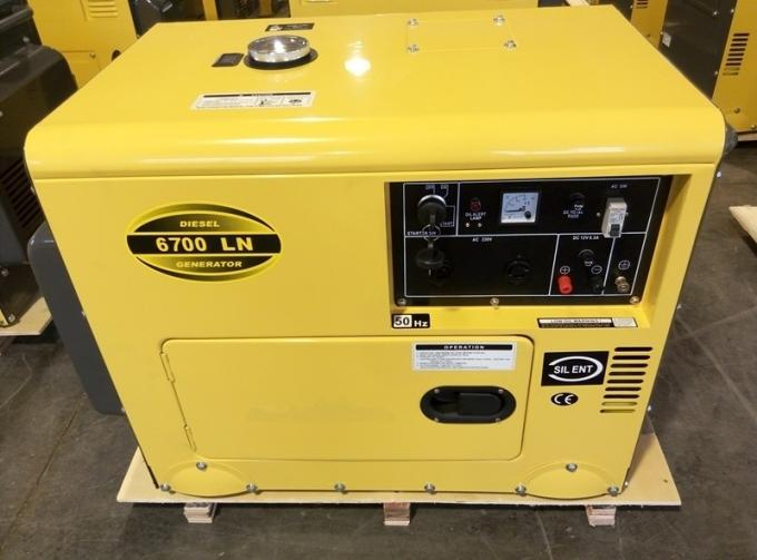 5W Air Cooled Silent Diesel Generator Unit AC Single Phase , 158Kg Weight