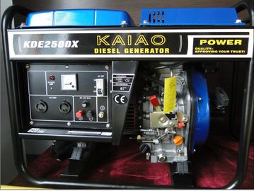 China 2kva Open Frame Diesel Powered Portable Generators Lightweight Model NO.KDE2500X supplier