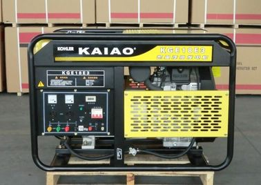 China OHV 15kva 25L Fuel Tank Air cooled Gasoline Generator Low Oil Alarm System KGE18E supplier