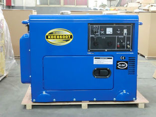 China Industrial Air Cooled Quiet Diesel Generator With 3000 / 3600 Rpm Engine Speed supplier