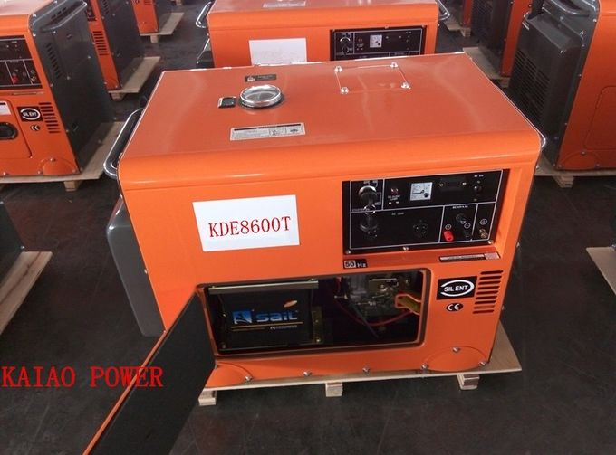 Enclosed Shop Small Ultra Silent Generator Fuel Efficient AVR Excitation System